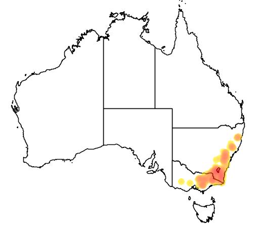 Baeckea utilis flora location map