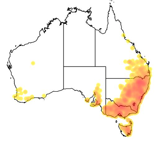 Carex inversa flora location map