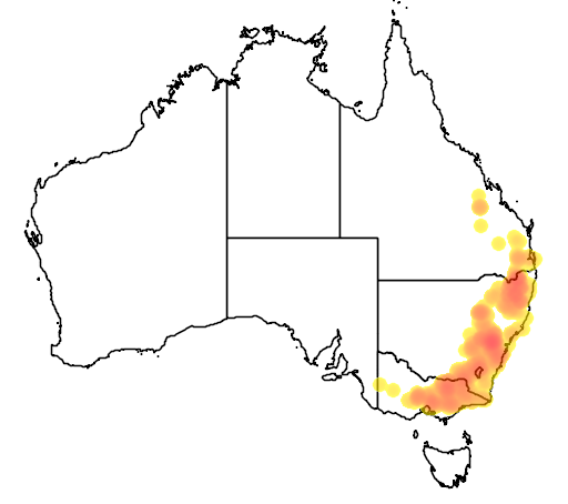 Dillwynia phylicoides flora location map