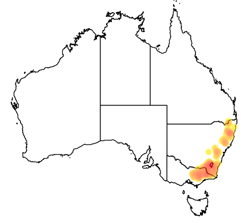 Epacris breviflora flora location map