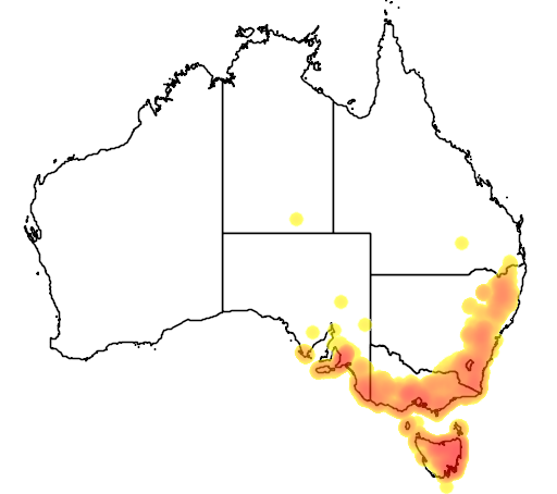 Eucalyptus viminalis flora location map