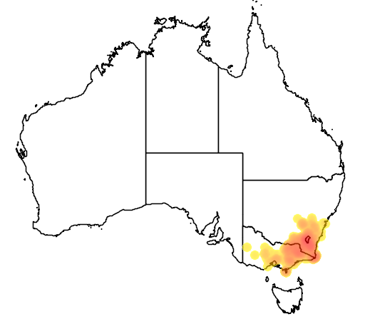 Grevillea lanigera flora location map