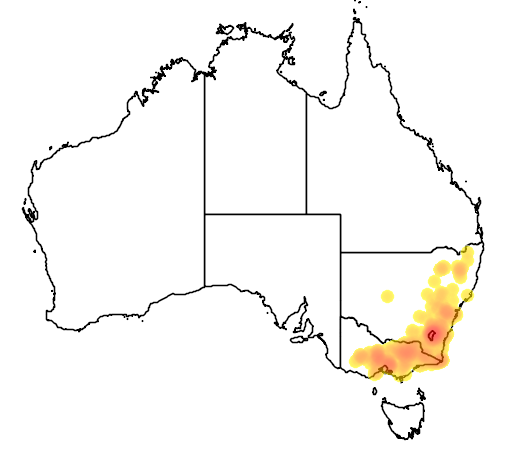 Joycea pallida flora location map