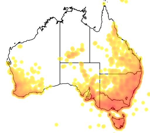 Juncus flora location map