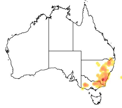 Kunzea parvifolia flora location map