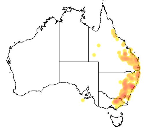Pultenaea spinosa flora location map
