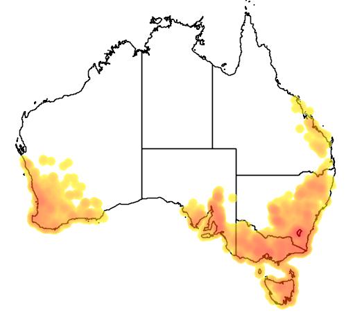 Stackhousia monogyna flora location map