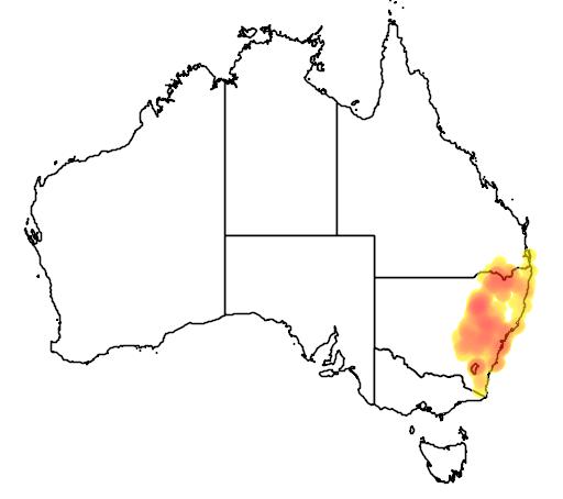 Styphelia triflora flora location map